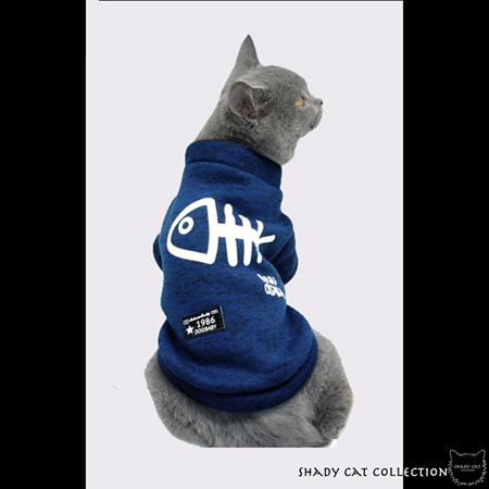 Fishy Blue Cat Jumper