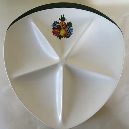 Five partition dish