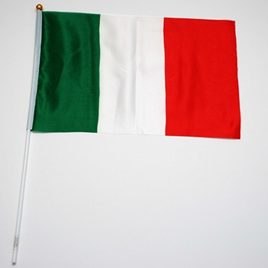 Flag Cloth on Stick Italian 300mm x 450mm