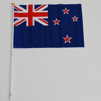 Flag Cloth on Stick New Zealand 300mm x 450mm