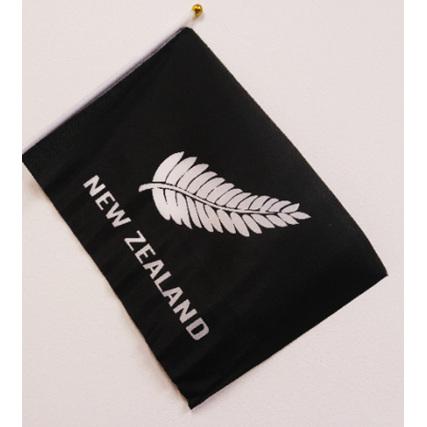 Flag Cloth on Stick Silver Fern 300mm x 450mm