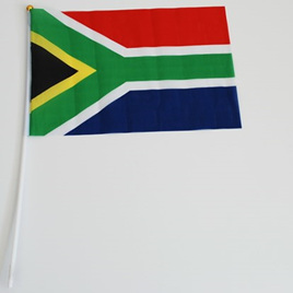 Flag Cloth on Stick South Africa 300mm x 450mm