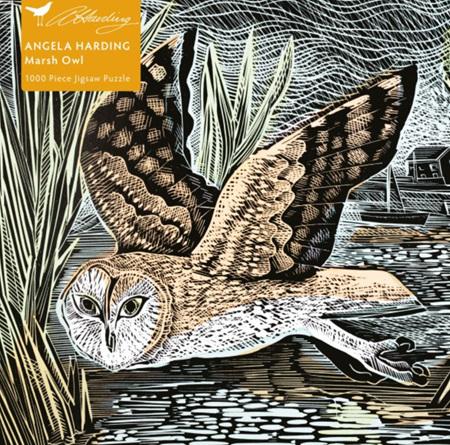 Flame Tree Studio 1000 Piece Jigsaw  Puzzle: Angela Harding: Marsh Owl