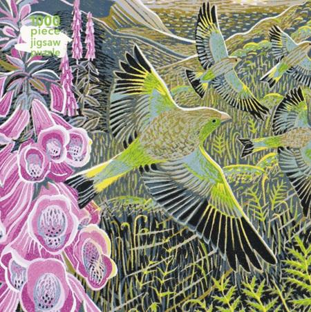 Flame Tree Studio 1000 Piece Jigsaw  Puzzle: Annie Soudain - Foxgloves and Finches