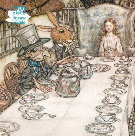 Flame Tree Studio 1000 Piece Jigsaw  Puzzle: Arthur Rackham: Alice in Wonderland Tea Party