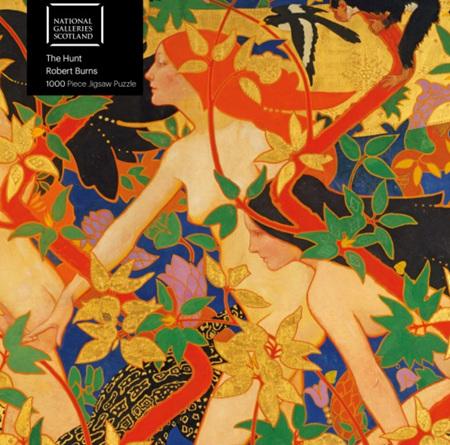 Flame Tree Studio 1000 Piece Jigsaw  Puzzle: Robert Burns - The Hunt