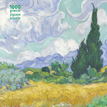 Flame Tree Studio 1000 Piece Jigsaw  Puzzle: Vincent van Gogh: Wheatfield with Cypress