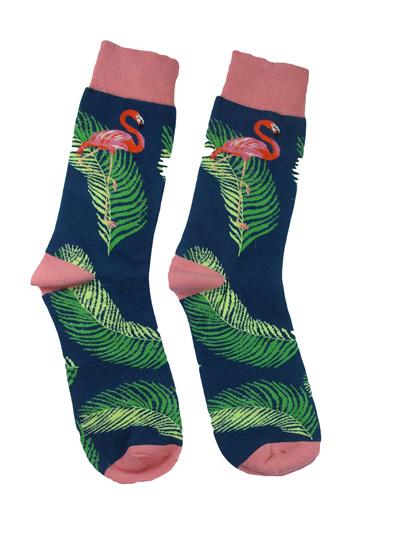 Flamingo and Palm Tree Socks