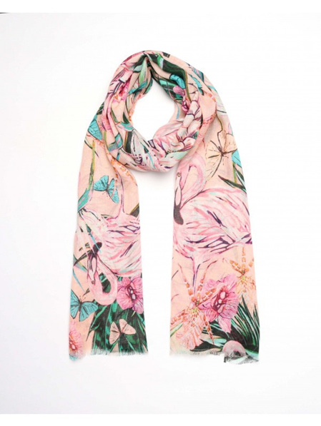 Flamingo Scarf - Peach