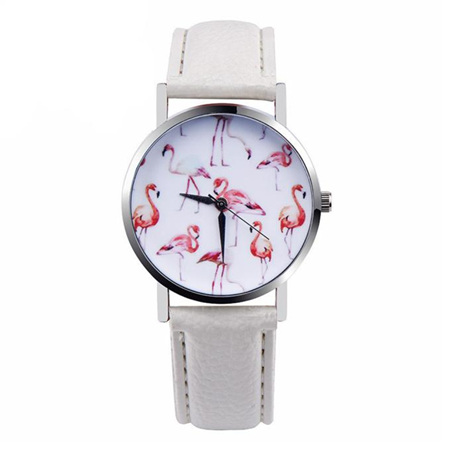 Flamingo Watch - White