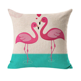 Flamingos in Love Cushion Cover