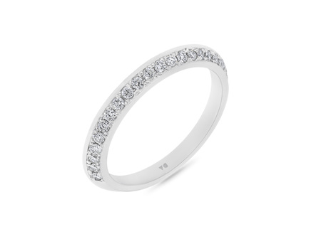 Flat Edge Diamond Wedding Ring