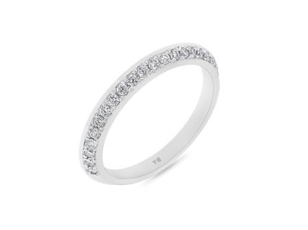 Flat Edge Diamond Wedding Ring