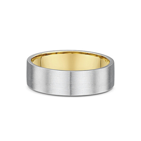 Flat Profile Mens Wedding Ring