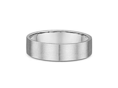 Flat Profile Mens Wedding Ring