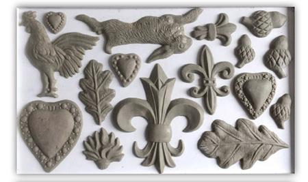 Fleur-De-Lis IOD Decor Mould