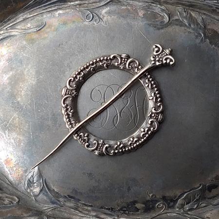 Fleur de Lis Shawl Pin