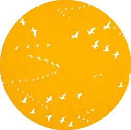 """Flight"", Golden, GOTS Organic 100% Cotton, 116 gsm"