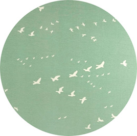"""Flight"", Mint, GOTS Organic 100% Cotton Knit, 210 gsm"