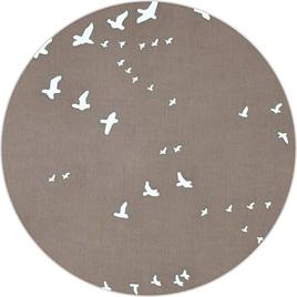 """Flight"", Shroom, GOTS Organic 100% Cotton Double Gauze, 135 gsm"