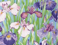 Floating World Japanese Irises PWSL021ZEST
