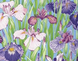 Floating World Japanese Irises PWSL021ZEST