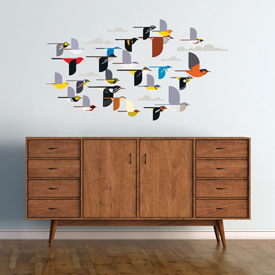 Flock of Birds Decal Set by Charley Harper
