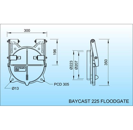 floodgate flap valve tide gate