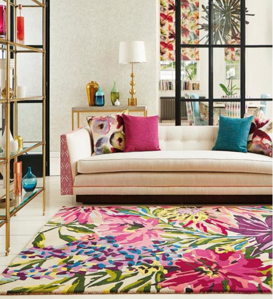 Floor Rug Floreale Fuchsia New Zealand bloomdesigns