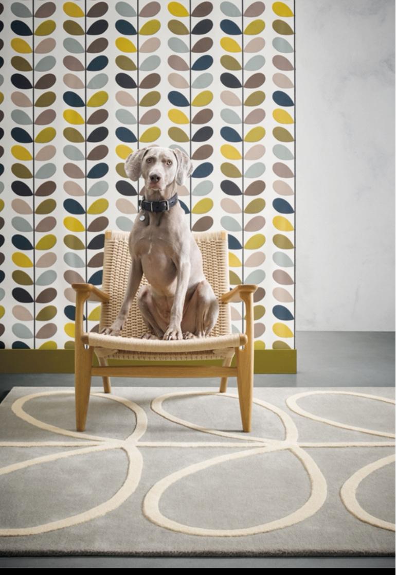 Floor Rug Linear Stem Giant New Zealand bloomdesigns