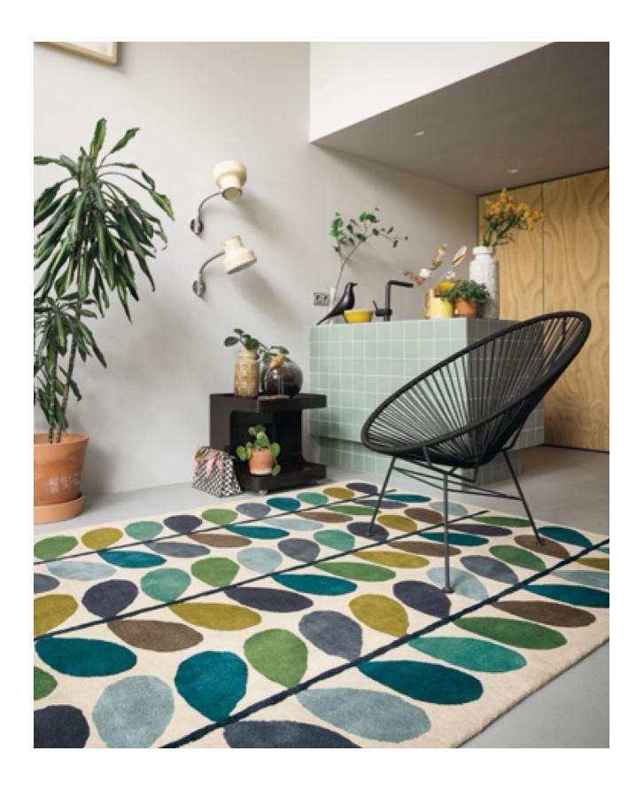 Floor Rug Multi Stem New Zealand bloomdesigns