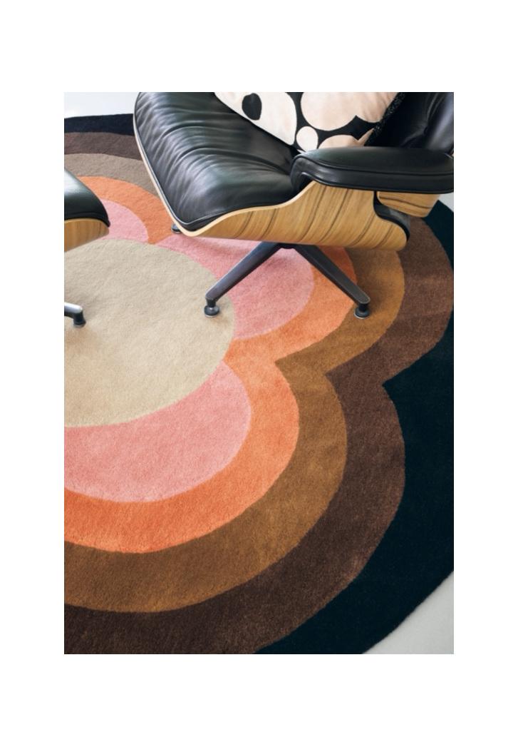 Floor Rug Sunflower Round New Zealand bloomdesigns