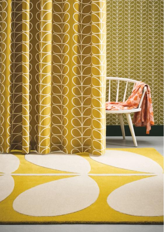 Floor Rug Yellow Stem New Zealand bloomdesigns
