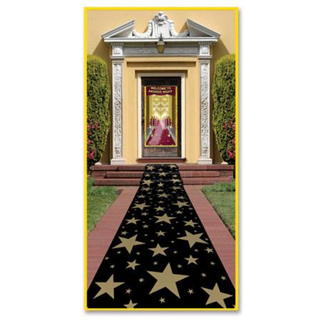 Floor runner - gold stars.