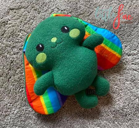 Floppy Ear Green Rainbow Bunny