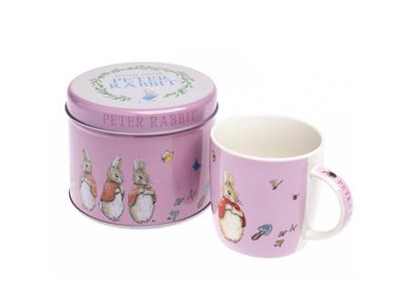 Flopsy Mopsy Cottontail Mug/Tin Pink