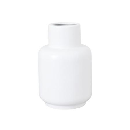 Flora Ceramic Vase Small White 10x10x14.5cm