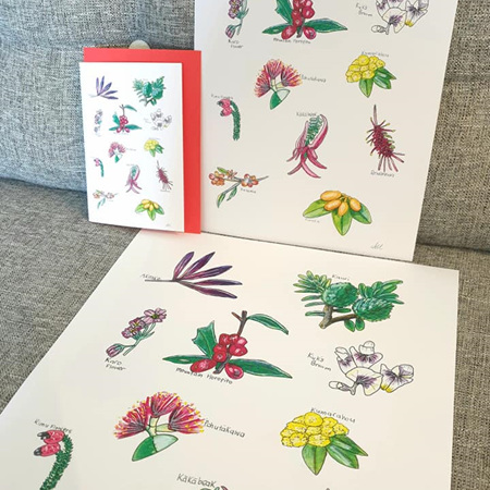 Flora Delights Greeting Card
