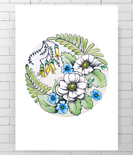 flora original painting