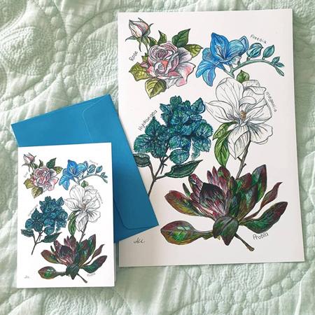Floral 5 Print A4