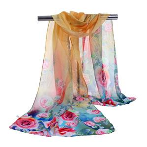 Floral Chiffon Scarf *Multicolour* fs03