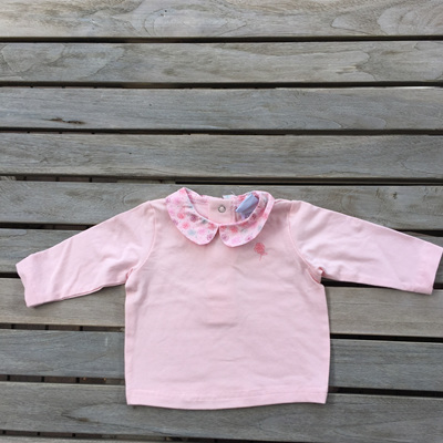 floral collar Papoose long sleeved top