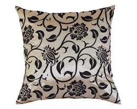 Floral Design Neutral Cushion Cover