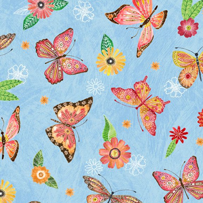 Floral Flight - Butterfly Blue