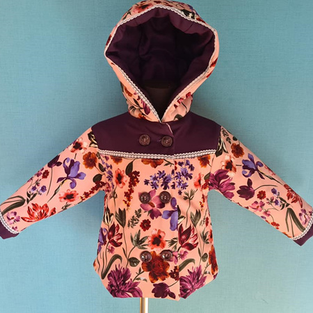 Floral Pink/Purple Jacket Size 2
