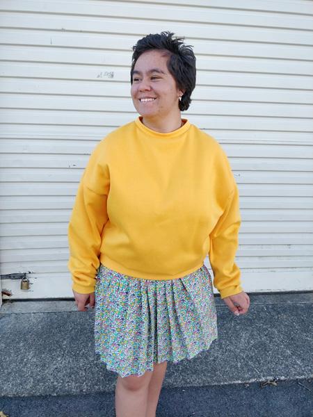 Floral Pleat Skirt