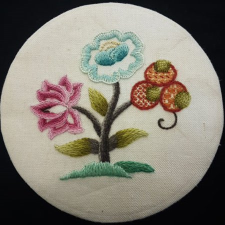 Floral Temptation Crewel Embroidery Kit by Nancy Robb
