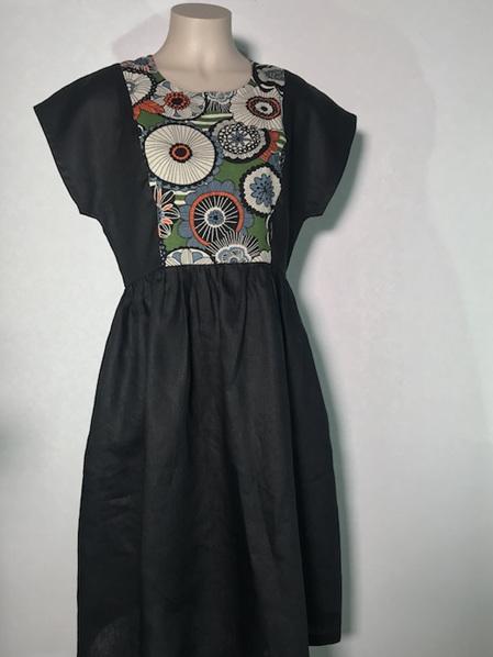 Floral Ume panel dress