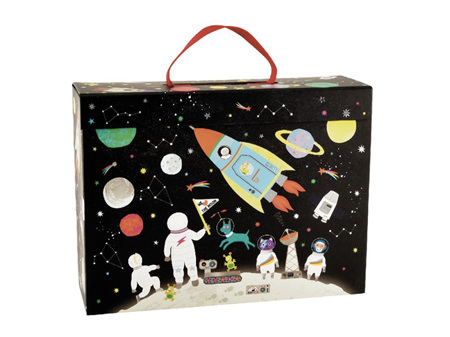 Floss & Rock Playbox with Wooden Pieces - Space