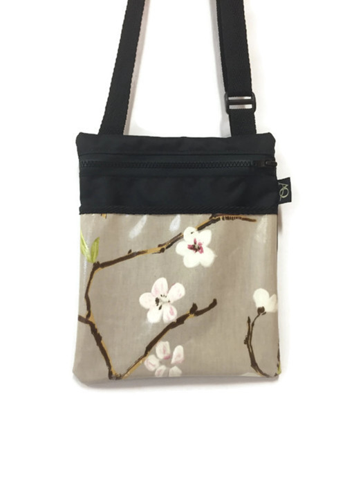 Flower handbag in neutral tones.  Made in NZ
